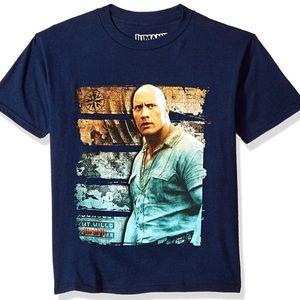 """NWT Hard to Find Jumanji """" The Rock"""" Boys Shirt"""